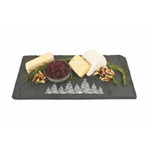 Cutting Board Cheese, Holiday Evergreen Slate Rustic Serving Elegant Che... - $32.99