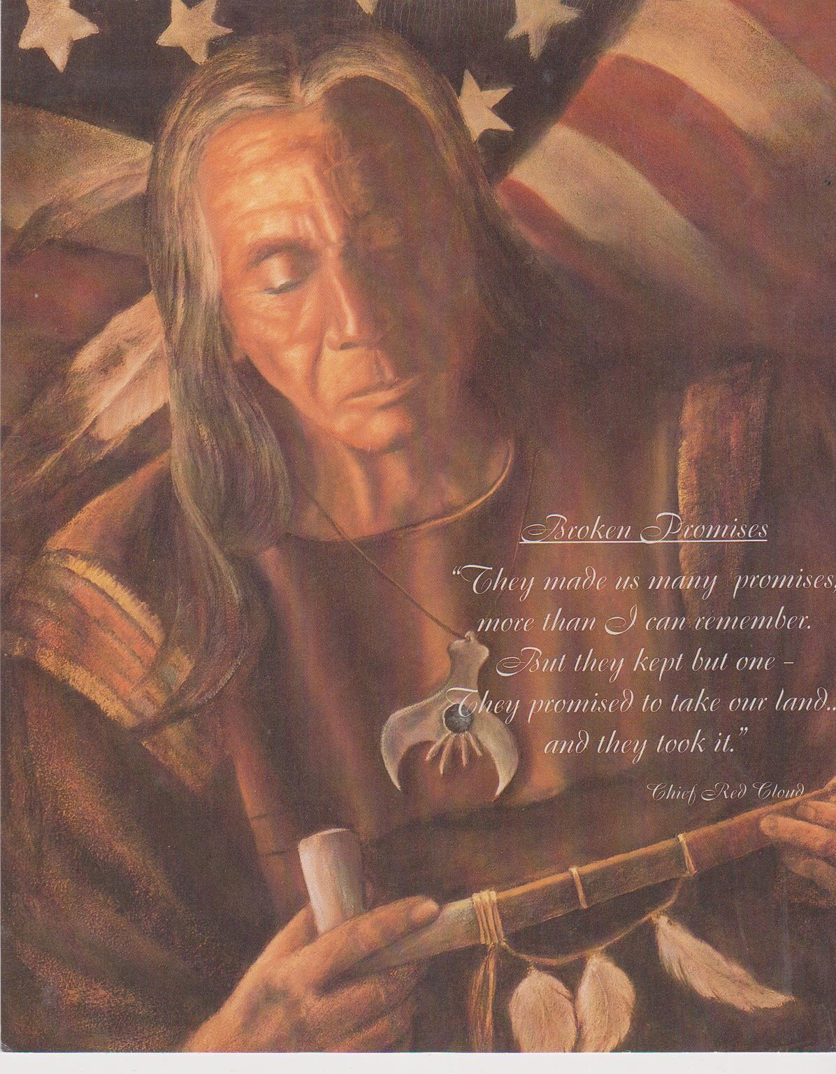 Primary image for Chief Red Cloud Broken Promises Vintage 8X10 Color Native American Photo