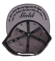 Gold Wheels Skateboarding Silver Grey Black Classic Logo Snapback Baseball Hat image 7
