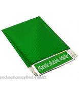 """1000 Green Metallic Bubble Mailers 7"""" x 6.75"""" Envelopes Shipping Bags - $382.19"""