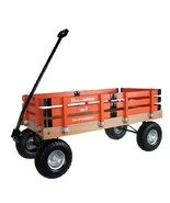 HEAVY DUTY LOADMASTER ORANGE WAGON - Beach Garden Utility Cart AMISH MAD... - $330.18