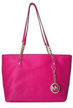 Michael Kors Jet Set East West Chain Tote Raspberry - $276.21