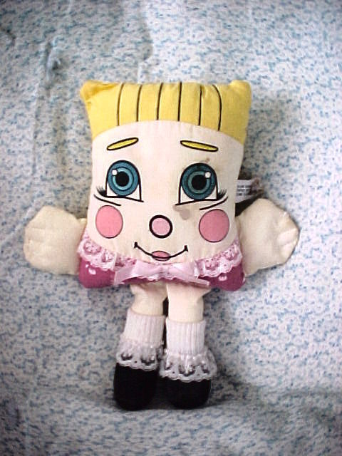 Primary image for 1985 VTG Pillow People Blonde Girl Doll Blue Eyes Stuffed Plush-SWEET DREAMS-8""