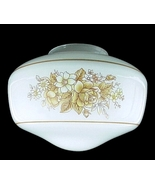 Ceiling Fan Light Shade Floral Glass Schoolhous... - $12.95