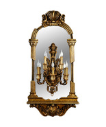 Fantastic Museum style Palace Gold Wall Mirror Sconce,59''Tall. - $1,495.00