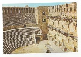 Turkey Antalya Aspendos Theatre Interior Roman Ruins Vtg Postcard 4X6 - $5.69