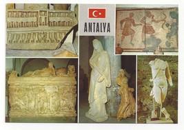 Turkey Antalya Multiview Ancient Art Statues Vintage Postcard 4X6 - $5.69