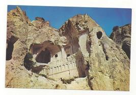 Turkey Goreme Karanlik Church Exterior Cliff View Vntg Postcard 4X6 - $4.99