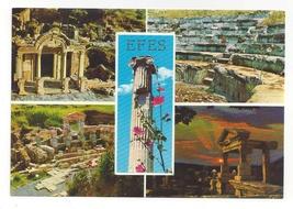 Turkey Efes Ephesus Multiview Greco Roman Ruins Vtg Postcard 4X6 - $4.99
