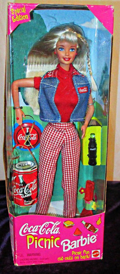 Primary image for COCA COLA Picnic Barbie Doll Mint in Box 1997 NRFB
