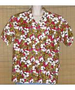 Blue Hawaii by Datchler Hawaiian Shirt Red Gold XXL - $24.95