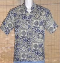 Campia Moda Hawaiian Shirt Blue Green Small - $19.95