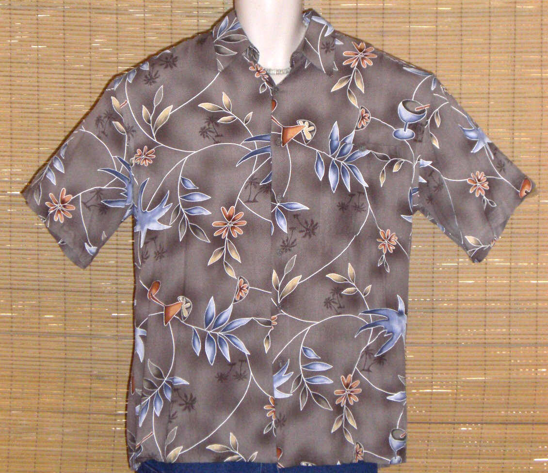 CAMPIA MODA Hawaiian Shirt Brown Medium