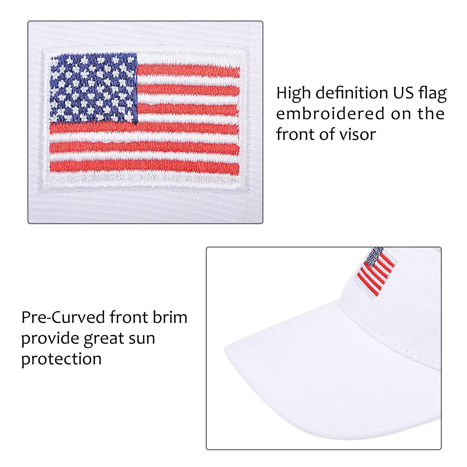 3619b064bc2 American Flag Sun Visor Adjule Cap And 32 Similar Items. Enimay Sports  Tennis Golf Sun Visor Hats Adjule Velcro Plain Bright Colors ...