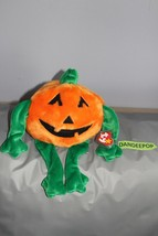"TY Retired Beanie Buddies Collection 14"" Large Pumkin Halloween 1999 - $19.79"