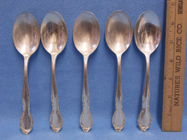 Set 5 Silverware Flatware Utensils Wm Rogers IS Tablespoons Moonlight Lo... - $15.83