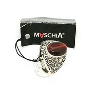 925 Silver Ring with Tiger's Eye & Marcasite Made in Italy by Maschia image 5
