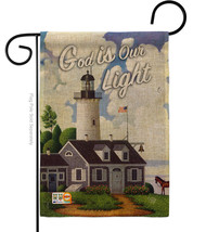 God is Our Light Burlap - Impressions Decorative Garden Flag G191067-DB - $22.97
