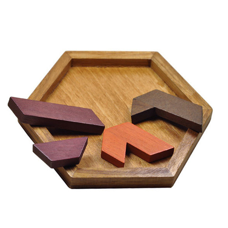 Kids Puzzles Wooden Toys Tangram Wood Geometric Shape  Educational Toys