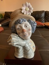 Lladro 5542 large clown head bust Melancholy mint condition rare to find - $386.10