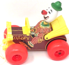 Vintage Fisher Price Jalopy Toy Circus Clown in Car Pull # 724 1965 - $34.99