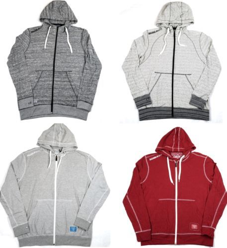 Men's Hoodie Full Zip Semi-Fit Hooded Sweatshirt Point Zero Black Label NEW