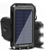 20000mAh Portable Outdoor Waterproof Solar Power Bank, Camping External ... - $23.00