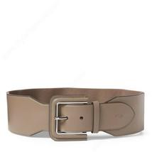 Lauren Ralph Lauren Wide Covered-buckle Stretch Belt (Taupe/Silver, L) - $37.90