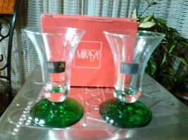 13#   Rare Beautiful Vintage Mikasa Pair Crystal Candle Holders Seasons ... - $18.80