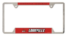 Louisville Cardinals Heavy Duty Chrome Metal License Plate Frame - $13.95