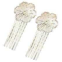 5 Pcs Hair Comb Metal Hair Clip Flower 5 Teeth Side Comb Decorative Comb, KC Gol