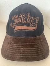 Mickey Goofy's Hat Brown Black Felt Baseball Hat Walt Disney Snapback Disneyana - $25.97