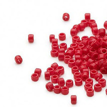 Opaque dark red 11 Glass Seed Beads 11/0 Lots of 1200 Miyuki Delica - $8.59