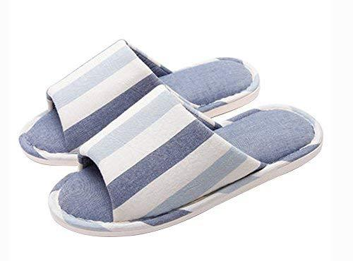 (Made By Cotton) Skidproof The Simple Style Of Home Slippers(Blue 1)