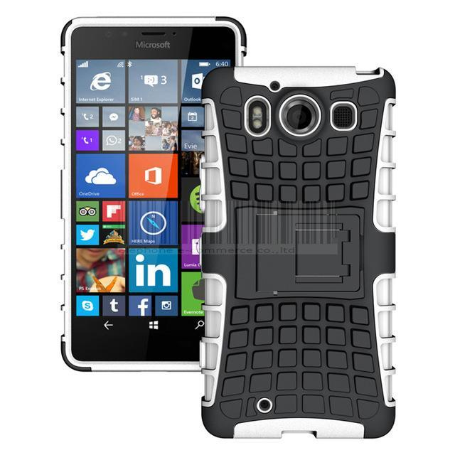 Heavy Duty Protective Hybrid TPU+PC Shockproof Armor Hard Case Cover Stand+Films