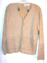 Size L/XL - Newport News Gold Metallic Thread Long Sleeve Sweater - $28.49