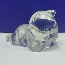 Fenton glass teddy bear figurine birthday stone sculpture depression lay... - $33.66