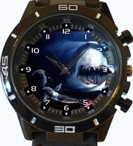 Deep Blue Sea Man Eater Shark New Gt Series Sports Unisex Watch - $34.99