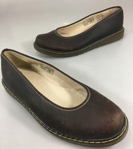 Dr Martens Ellen Womens 10US 8UK 42EU Brown Leather Ballet Flats Shoes S... - $66.64