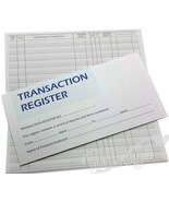 50 Page Checkbook Transaction Registers with 3 Year Calendar - Set of 25 - $24.00