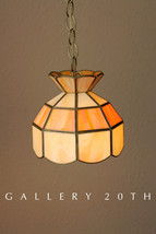 WOW! SMALL MID CENTURY MODERN ORANGE HANGING SWAG LAMP! TOO COOL! 70'S 6... - $500.00