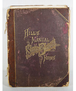 Antique 1892 Book Hill's Manual Social And Business Forms Design Writing... - $142.49