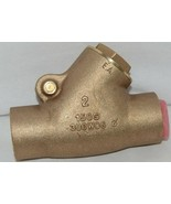 Unbranded Two Inch Lead Free Bronze Check Valve Y Pattern - $129.72