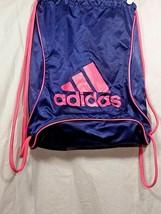Adidas Sack Pack Drawstring Gym Bags Unisex Backpacks Sports Blue Pink - $33.50