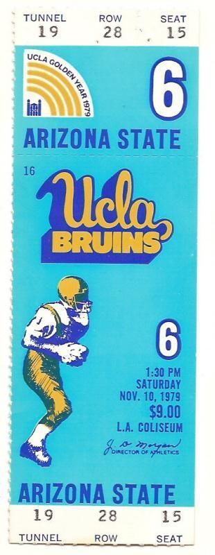 Primary image for 1979 Nov 10th Full Unused ticket UCLA vs Arizona State NCAA College Football