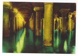 Turkey Istanbul Basilica Cistern Yerebatan Sarayi Vtg Postcard 4X6 - $4.99