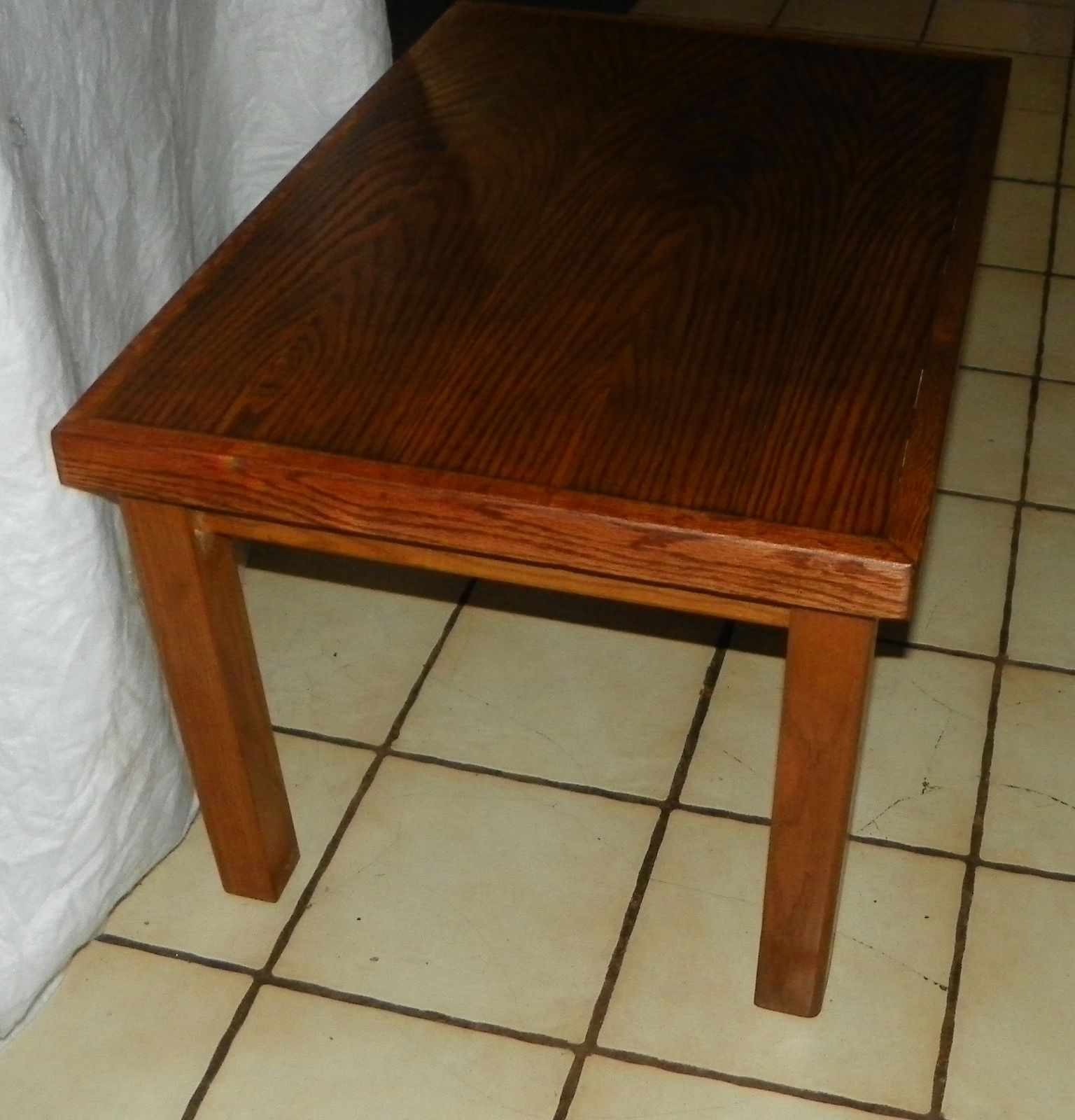 Mission Book Match Veneer Top Oak Coffee Table Ct21 Post 1950