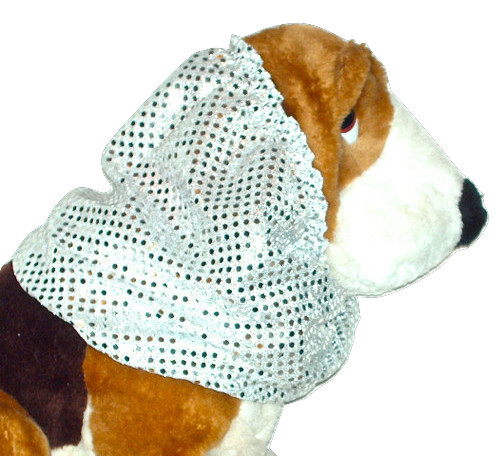 Primary image for Dog Snood Silver Confetti Dot Sequins Cavalier King Charles Spaniel Puppy SHORT