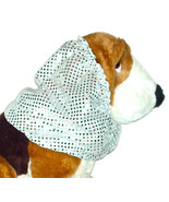 Dog Snood Silver Confetti Dot Sequins Cavalier King Charles Spaniel Pupp... - $11.00
