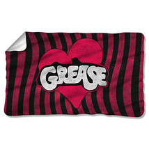 GREASE MOVIE GROOVE LOGO LICENSED ONE-SIDED FLEECE BLANKET THROW PAR564-... - $31.95